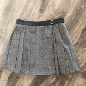 Plaid wrap mini skirt